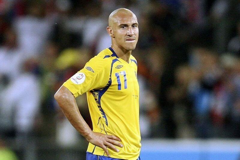 Хенрик Ларссон в сборной Швеции.