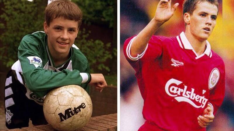 Майкл Оуэн в молодости.
