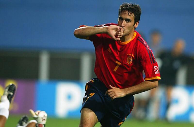 Рауль в сборной Испании.