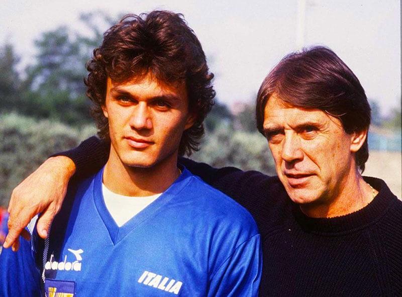 Паоло Мальдини с отцом.