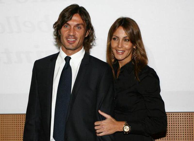 Паоло Мальдини с женой.