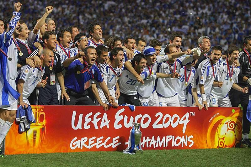 Чемпионы Европы по футболу 2004 года.