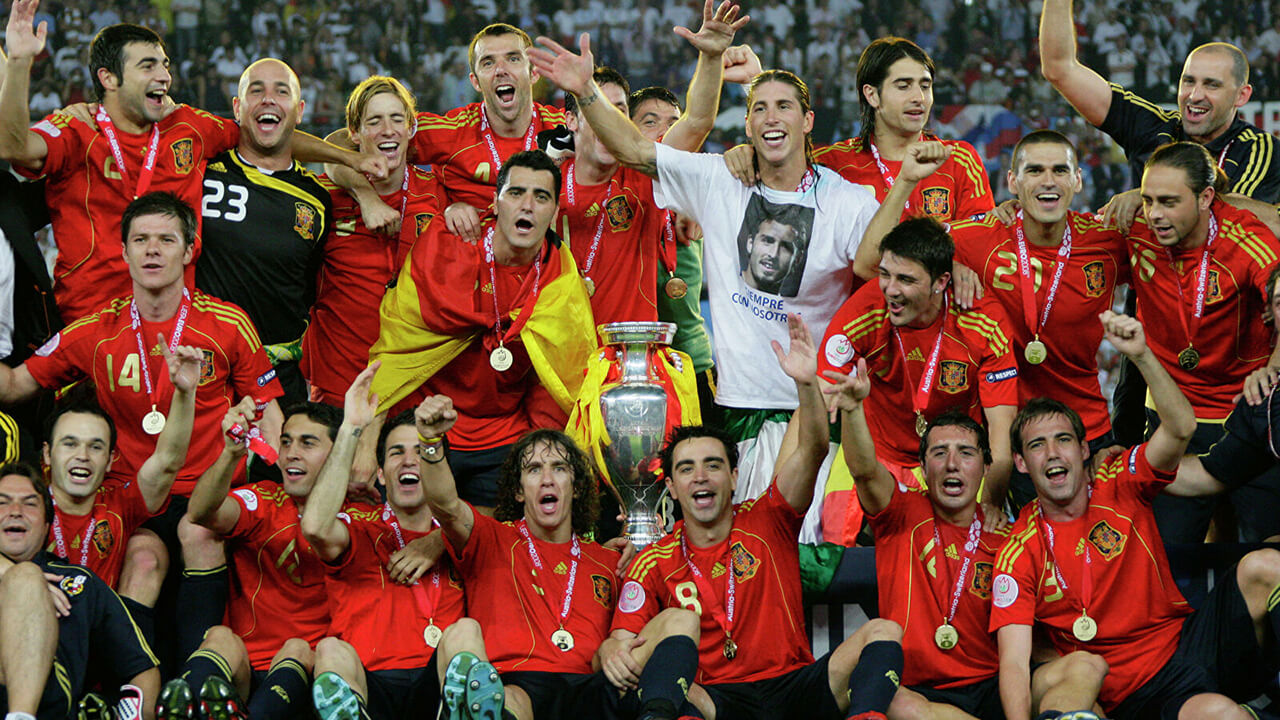 Чемпионы Европы по футболу 2008 года.